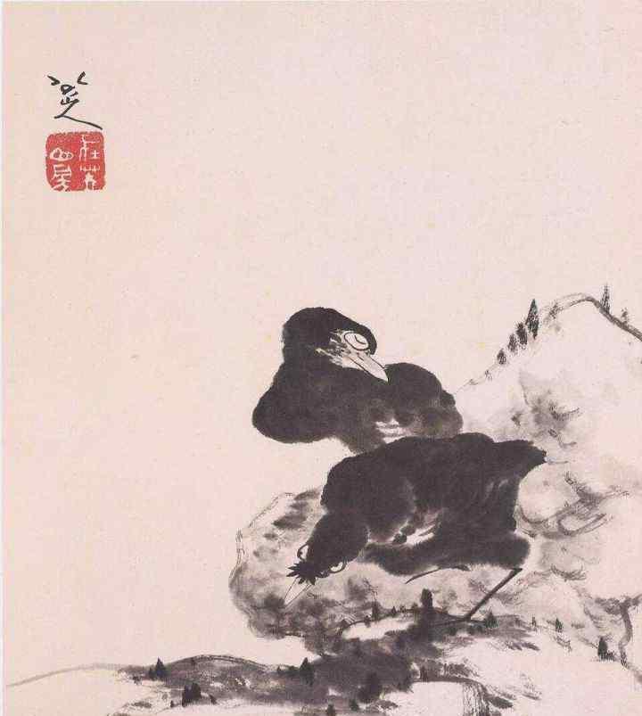 八大山人的画 八大山人的画为什么好 来看看他的这些花鸟作品吧